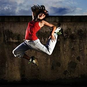Dancer Flying Through the Air